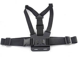 Крепление на грудь для экшен камеры Черный R0544, КОД: 1636621
