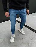 Джинсы мужские синие брендовые, фото 3