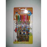 """Ручки гелевые, набор в блистере 8 цветов """"Птицы АВ"""" блестящие Josef Otten"""