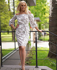 Стильное нарядное платье выше колена 42 44