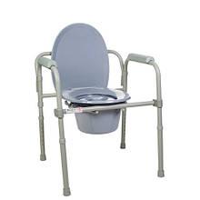 Doctor Life 12627. Стілець туалетний складаний сталевий арт.12627