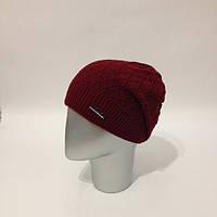 Женская стильная шапка с прищепом (расцветки) черный