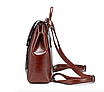 Рюкзак женский трансформер сумка из натуральной кожи Classic Черный, фото 2