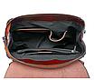 Рюкзак женский трансформер сумка из натуральной кожи Classic Черный, фото 5