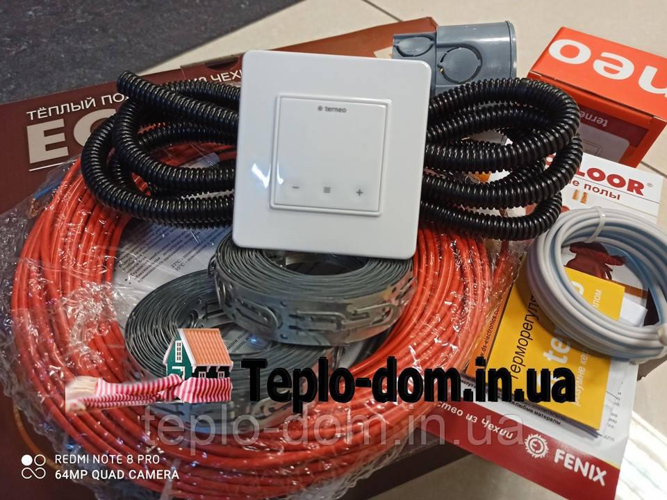 Кабель для обогреваFenix ADSV18260 ( 1.4 м2 ) с сенсорным терморегулятором Terneo S (Полный комплект)