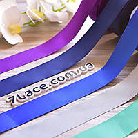 Репсовая лента 4 см / цвет микс / ширина 4 см / 18 бобин разных цветов