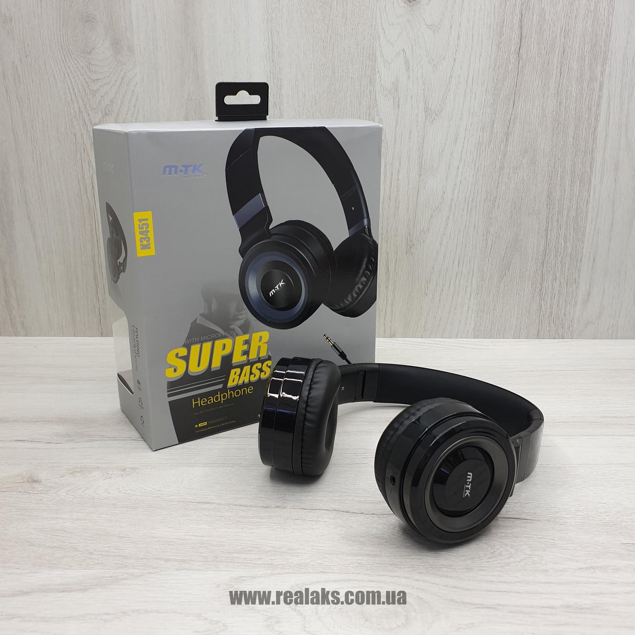 Наушники проводные MTK SUPER BASS K3451  (Black)