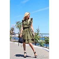 Платье женское с рюшами Леонтия 143
