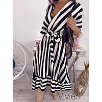 Платье стильное женское в полоску 371236 р 42-58