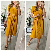 Платье женское стильное на пуговицах 455542
