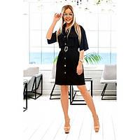Платье женское с поясом  110120 р 42-52