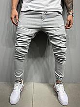 Мужские класические брюки светло-серые лучшее качество Турция
