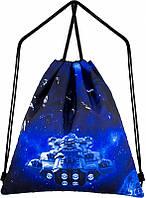 Рюкзак для обуви Winner One M-47 мешок для сменки для мальчика космос с ракетой катомка школьная