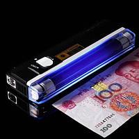Ультрафиолетовый УФ детектор подлинности банкнот DL 01 ручной | карманный детектор валют, фото 1