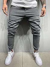 Мужские класические брюки темно-серые лучшее качество Турция
