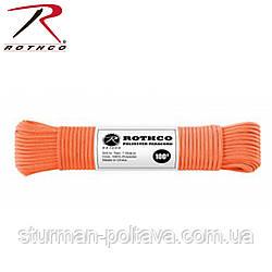 Паракорд 4 мм  оранжевый 100 футов CORD 550LB NYLON 100 FT / SAFETY ORANGE