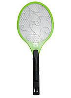 Мухобойка на аккумуляторах, цвет - Зеленый, электромухобойка, с доставкой по Киеву и Украине | 🎁%🚚, Отпугиватели и ловушки для насекомых