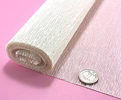 Креп бумага, жатка, гофробумага 50х250см (75гр/м), Айвори