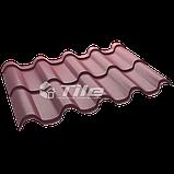 Металлочерепица Премиум плюс 3005 мат 0,5 мм U S Steel, фото 2