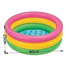 Детский надувной бассейн INTEX 58924 круг 86х25 см   Детский бассейн радуга, фото 6