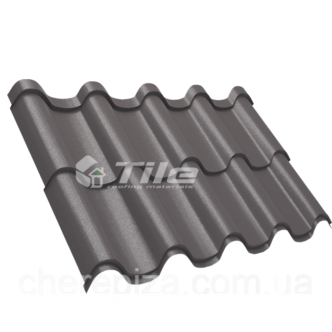 Металлочерепица Премиум плюс 8019 мат 0,5 мм U S Steel