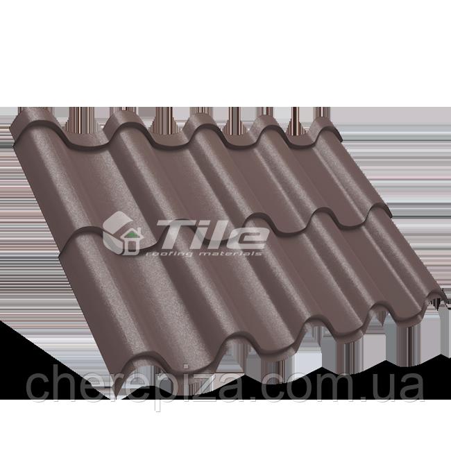 Металлочерепица Премиум плюс 8017 мат 0,5 мм U S Steel