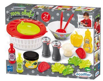 """Ігровий набір Ecoiffier """"Салат від Шеф-кухаря"""", 21 аксес., 18 міс. + (002579)"""