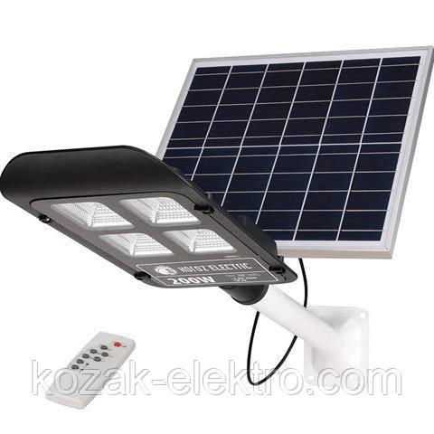 LAGUNA-200 Вт IP65 Автономный консольный светильник с солнечной панелью