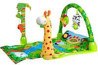 """Детский развивающий игровой коврик """"Тропический лес"""" Baby Gift, музыкальный,  88 х 46 см, 3059"""