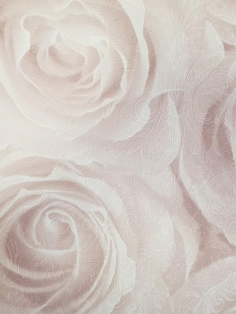 Обои виниловые на  флизелине AS Creation Roses 37644-2 метровые цветы розы крупные кремовые молочные