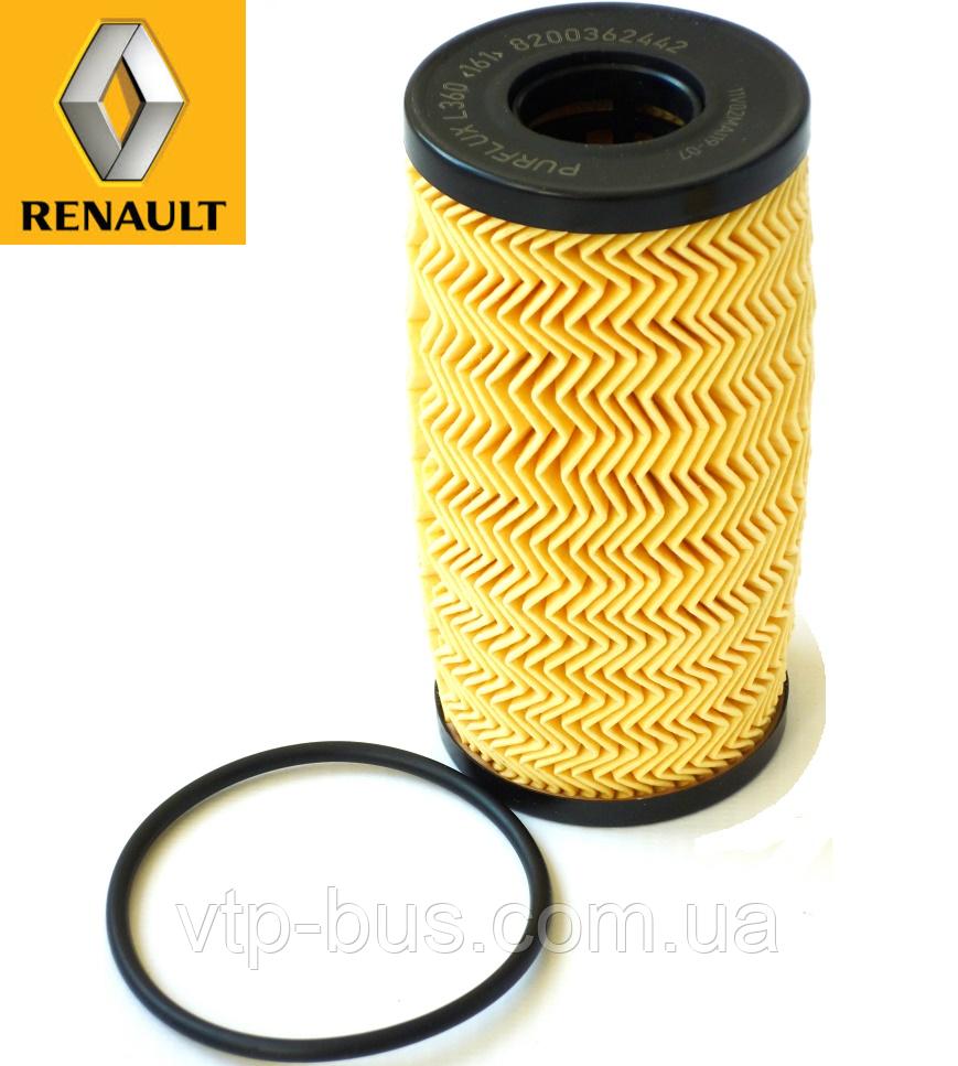 Фильтр масляный на Renault Trafic 2.0dCi / 2.5dCi (145 л.с.) 2006-2014 Renault (оригинал) 8200362442