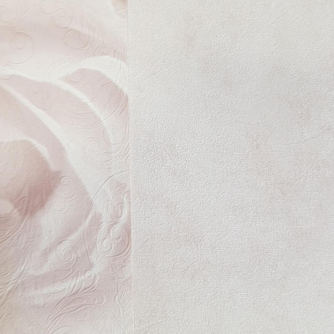Шпалери вінілові на флізелін AS Creation Roses 37645-2 метрові однотонні під штукатурку кремові рожеві