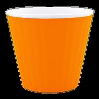 Кашпо Ибис с двойным дном 17,9*14,7см 2,3л Оранжевый, белый