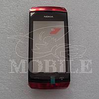 Сенсор Nokia 305/306 Asha с передней крышкой (00801J7) red Orig