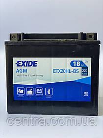 Мото аккумулятор EXIDE ETX20HL-BS 18Ah