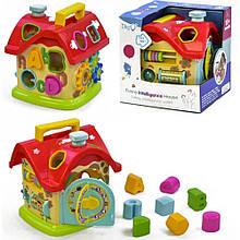 Развивающая игрушка Домик - сортер WD 3611 с пищалкой