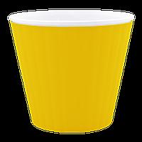 Кашпо Ибис с двойным дном 17,9*14,7см 2,3л Желтый, белый