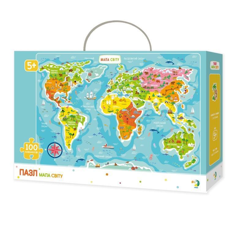 300110/100110 Пазл Мапа Світу