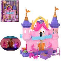 Замок SG-29002 принцесcы,38-45-13см,муз,св,фигурк2шт от 6,5см,мебель,на бат,в кор,50-43,5-15см