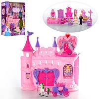 Замок SG-2991 принцессы,33-32-11см,муз,св,мебель,фигурки(вращ),на бат-кев кор-ке,39-49-13см