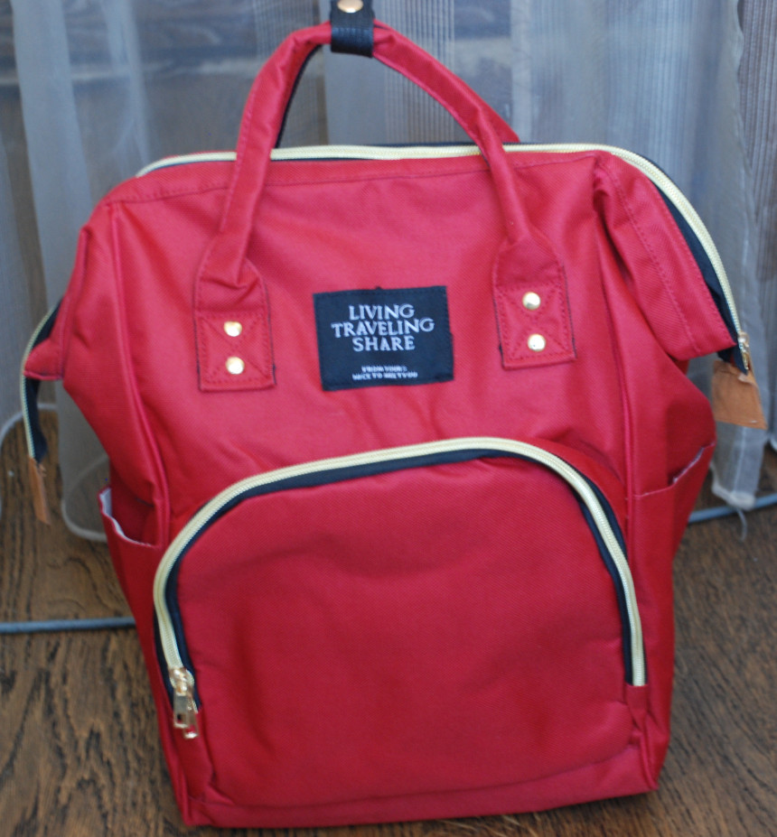 Сумка рюкзак , рюкзак для мам, трансформер. Розовый