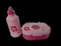 Ланч-боксы с бутылочкой розовый