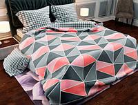 Двуспальный набор постельного белья Черешенка Gold №154082AB 180х220 Бязь Серый (BC2G154082AB)