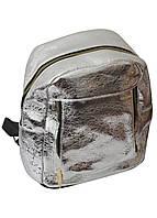 Жіночий рюкзак з екошкіри блискучий, 25*23*12 см