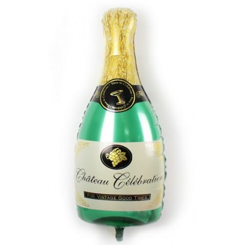 Шар фольгированный Бутылка Шампанского Размер 93 см х 47 см
