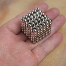 Неокуб Магнітний конструктор-головоломка NeoCube 216 кульок по 5 мм срібло, фото 2