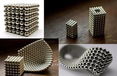 Неокуб Магнитный конструктор головоломка NeoCube 216 шариков по 5 мм серебро
