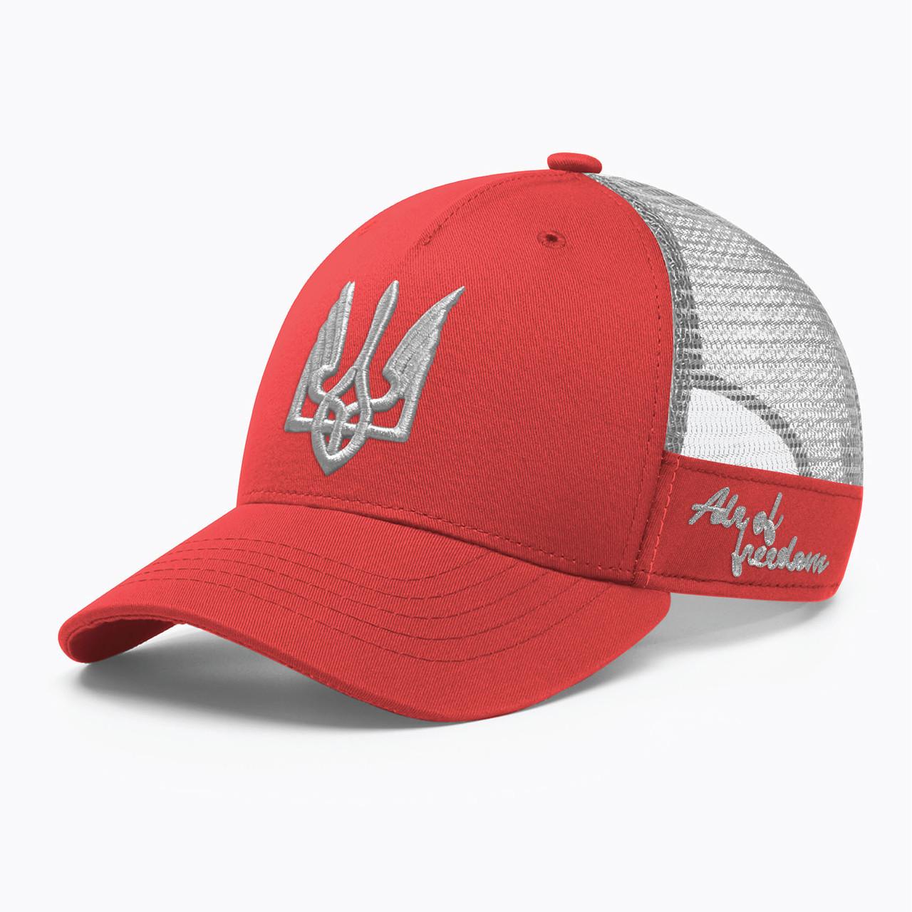 Купить Кепка бейсболка с сеткой тракер INAL air of freedom S / 53-54 RU Красный 14353