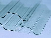 Гофрированный поликарбонат BORREX 1.05х2;3;4;6 метров Прозрачный