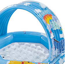 Детский надувной бассейн Intex 58415 «Винни Пух», 109 х 102 х 71 см, с навесом, фото 3